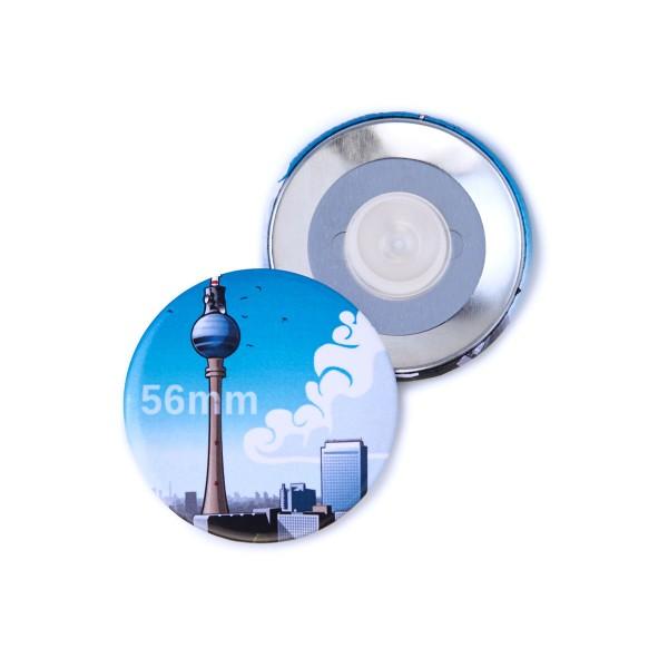 Button 56 mm mit Saugnapf