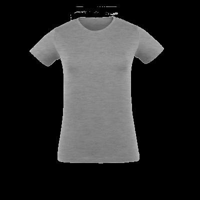 T-Shirt bedrucken Herren grau melliert