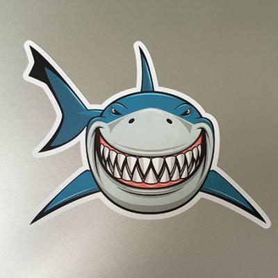 Aufkleber Hai drucken bei Button-King