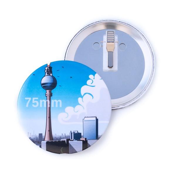 75 mm Button mit Clip