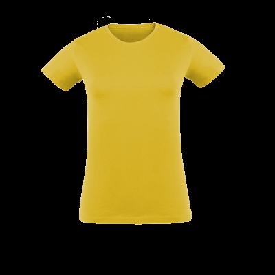 Damen T-Shirt gelb bedrucken