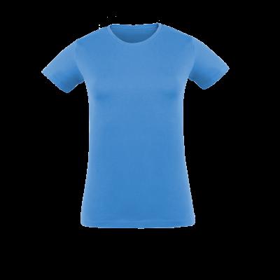 Damen T-Shirt hellblau bedrucken