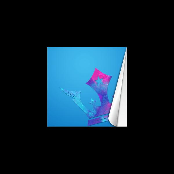 Quadratische Aufkleber bedrucken Beispielmotiv Krone