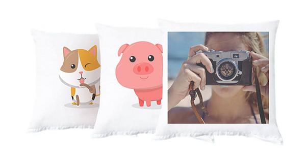 Fotokissen mit Foto, Grafik oder Text