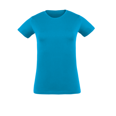 Damen T-Shirt türkis bedrucken