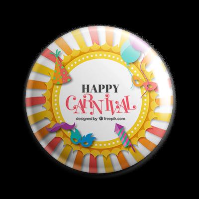Buttons drucken zum Karneval