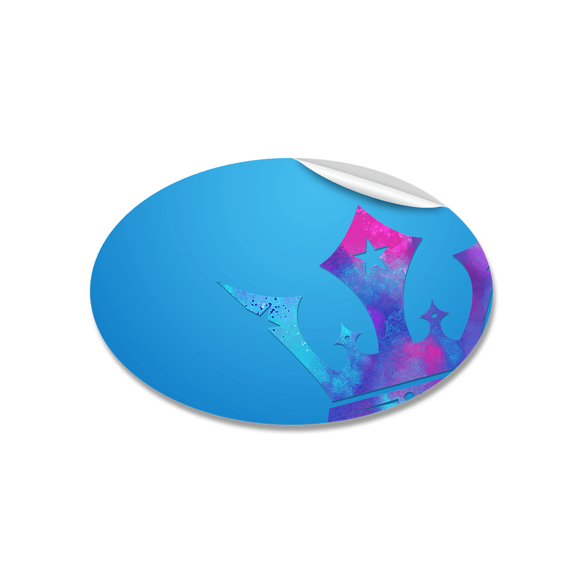 Ovale Aufkleber Drucken