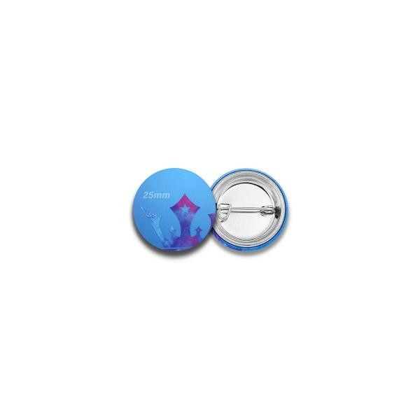 25mm Buttons mit Nadel-Verschluss
